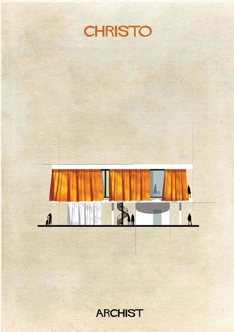 Famous works of art transformed into buildings in Federico Babina's Archist…