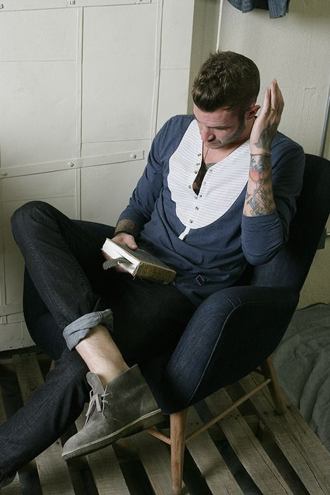.This Man, Men Clothing, Guys Style, Deserts Boots, Future Husband, Men Fashion, Men Footwear, Cuffed Jeans, Men Outfit