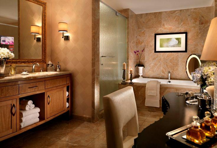Prepare for a night on the Las Vegas Strip in a marble-laden bath  Trump Las Vegas