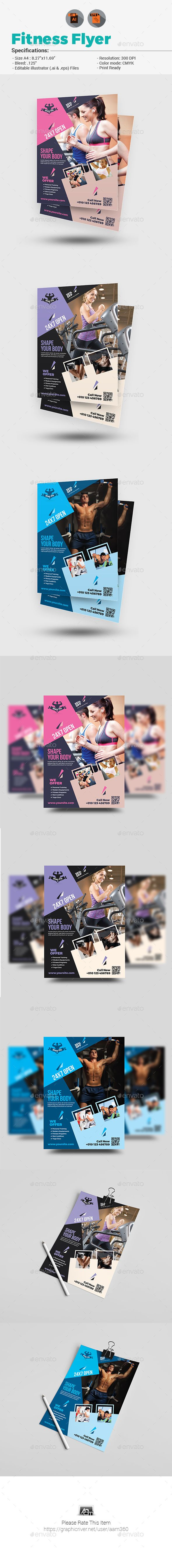 #Body #Fitness Club Flyer - Sports Events Download here: https://graphicriver.net/item/body-fitness-club-flyer/19689910?ref=alena994
