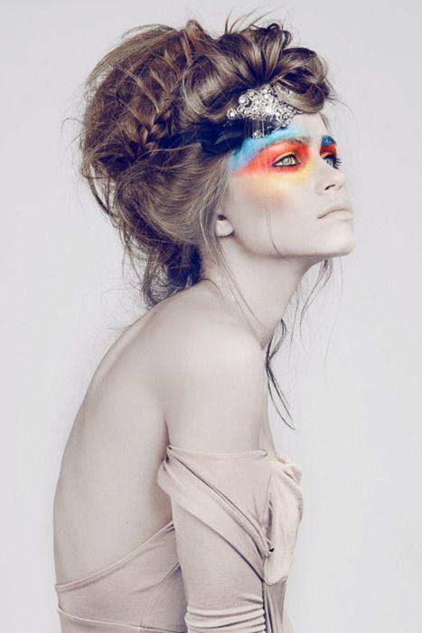 Awesome.Eye Makeup, Bright Eye, Eye Shadows, Hairmakeup, Beautiful, Hair Makeup, Eyeshadows, Eyemakeup, High Fashion Makeup