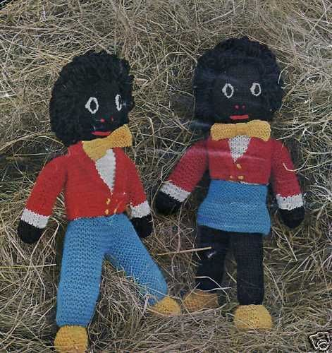 VINTAGE KNITTING PATTERN GOLLIWOGS/GOLLY GIRL/BOY TOY