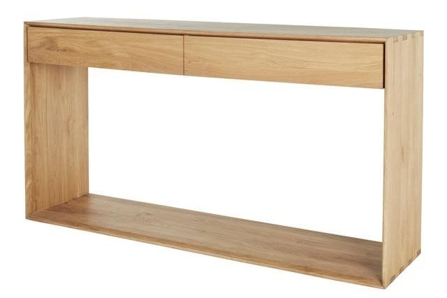 ETHNICRAFT NORDIC 2 DRAWER CONSOLE