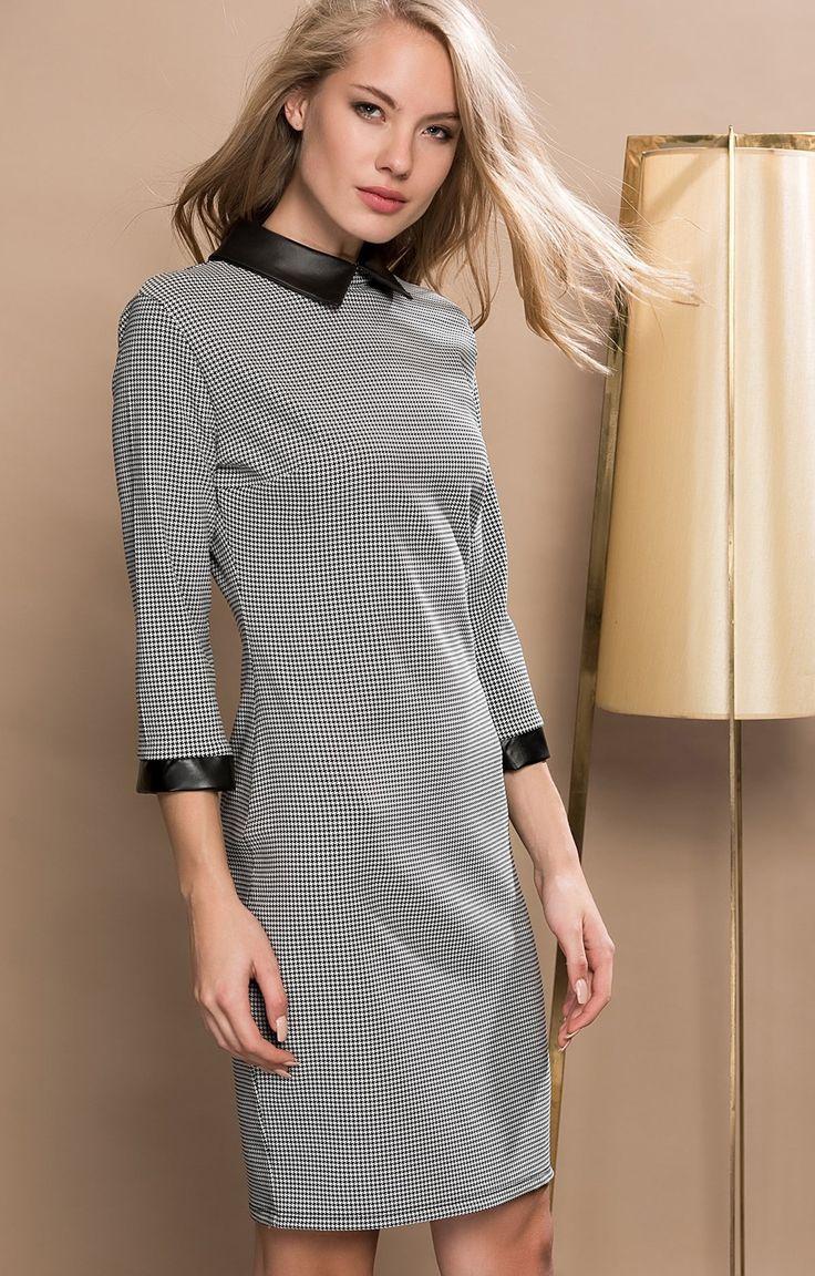 Olgun Orkun | Deri Yakalı Elbise