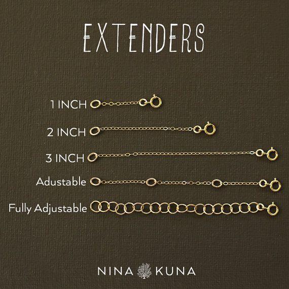 Collar Extender extensores en Gold Fill llenar de oro rosa