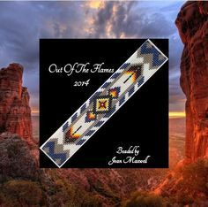 Bead PATTERN Taipa Cuff Bracelet Loom Square by Outoftheflames