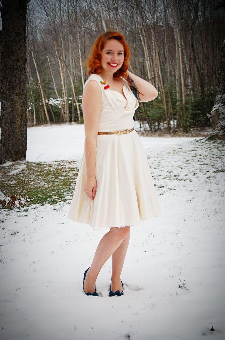 Jana in her ivory ophelia dress for Lindy bop wedding dress