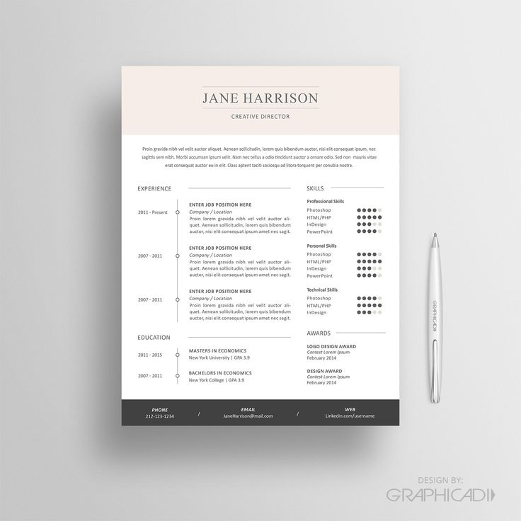 The 17 Best Resume Templates: 17 Best Images About Etsy Resume Templates - Etsy CV Templates On Pinterest