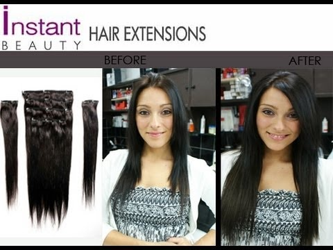 58 best hair extensions before after images on pinterest instant beautys 150g deluxe full set clip in hair extensions apply them yourself pmusecretfo Choice Image