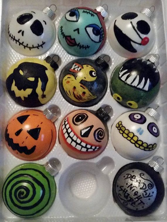 Nightmare Before Christmas Ornaments by HeatherINwAnderland $10 each