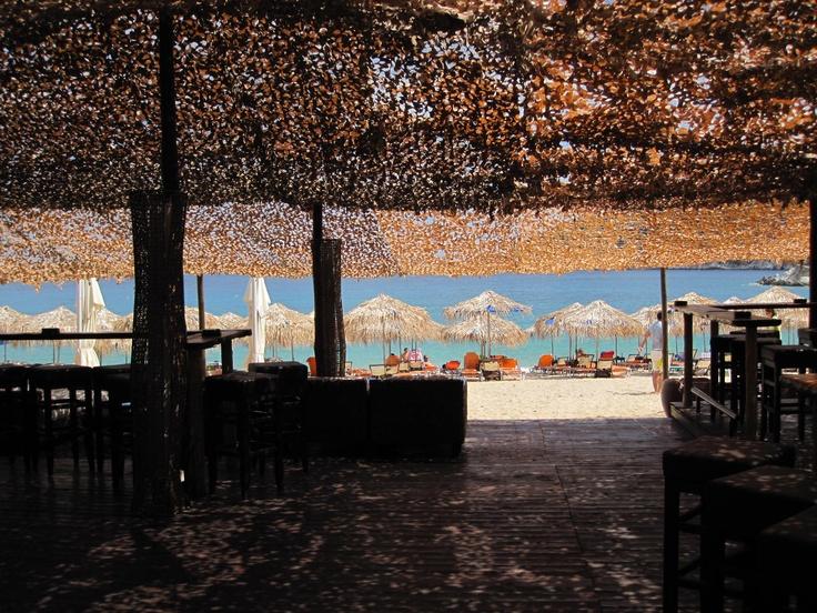 Africafe Beach bar in Kalamitsi, Sithonia, Halkidiki