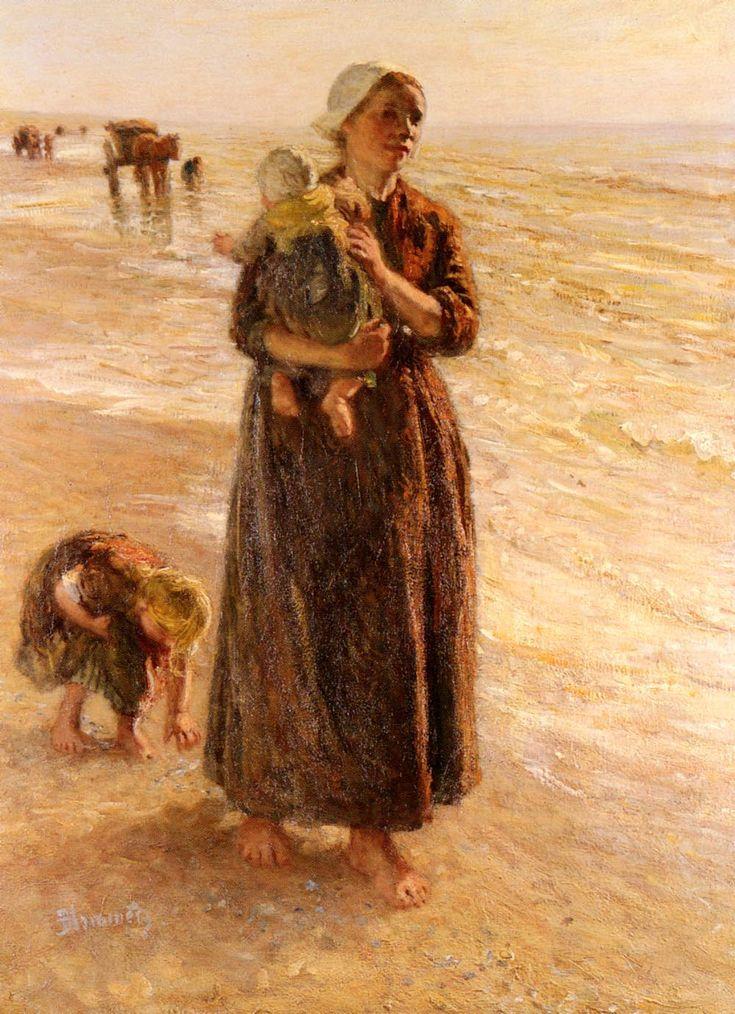 Bernardus Johannes Blommers, On the Beach