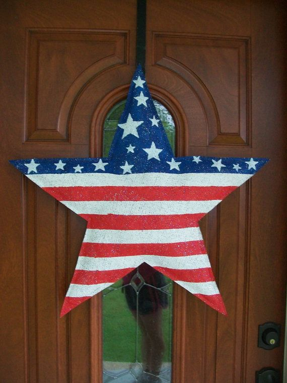 American Flag Star Burlap Door Hanger by AllUniqueThings on Etsy, $30.004Th Crafts, American Flags, Flags Stars, July Crafts, Burlap Crafts, Stars Burlap, Burlap Burlap, July 4Th, Burlap Doors Hangers