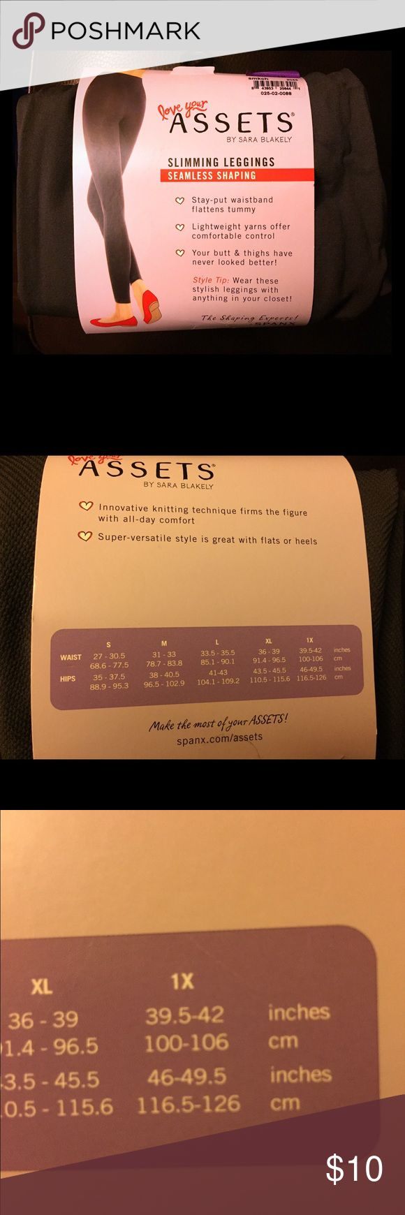 Love your assets SPANX!!! NWT 🌟🌟🌟 NWT love your Assets gray spanx that are leggings to give that smooth look!  Size XL... see chart size on last picture... used brand tag for exposure SPANX Accessories