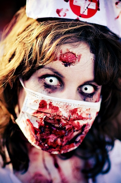 Diggin' your look, madam.#zombie #makeup #costume #specialeffects