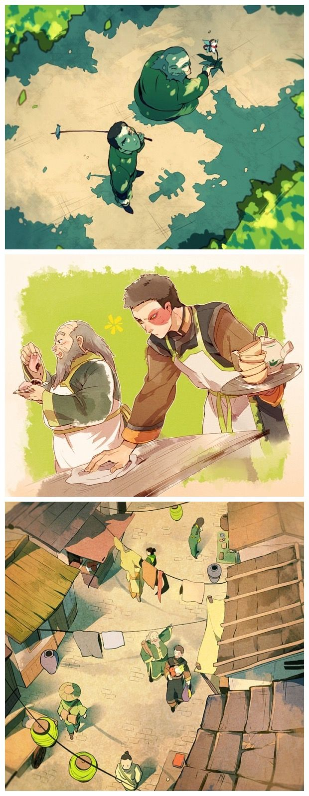 Zuko and Uncle Iroh in Ba Sing Se by Ashelia