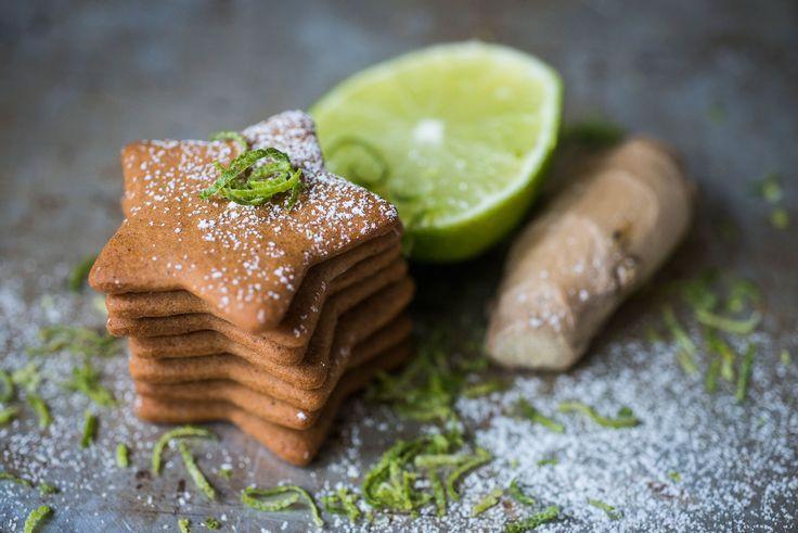 Oppskrift på pepperkaker med lime og ingefær.