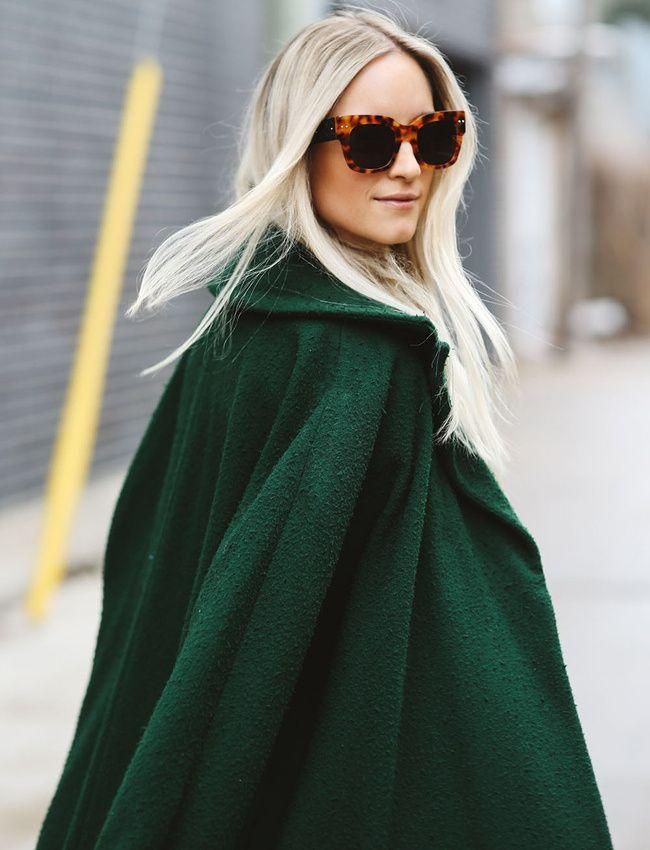 Le manteau vert, bien plus facile à porter que ce que l'on pourrait penser ! (manteau Topshop - The Fashion Guitar)