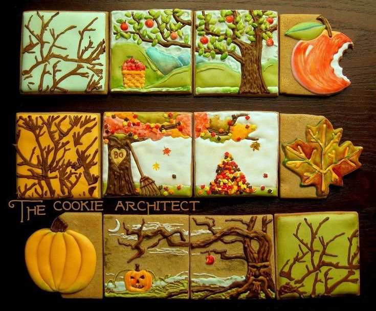 bakesale rebecca weld the cookie architect i might try recreating these but will never come close to how perfect these are favorite fall cookies ive - Halloween Cookies Decorating Ideas
