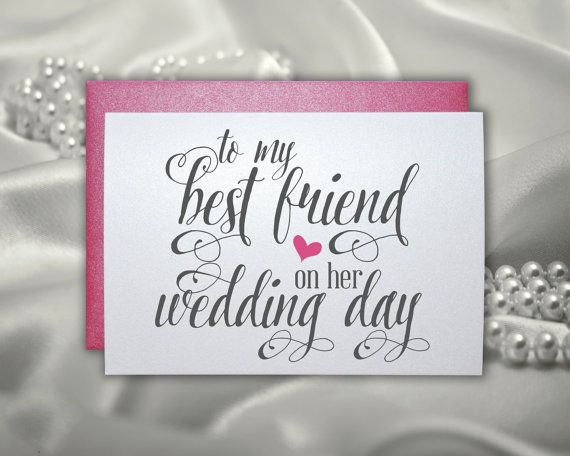 Wedding Date Picture Gift: Wedding Gift Card For Best Friend Wedding Bridal Shower