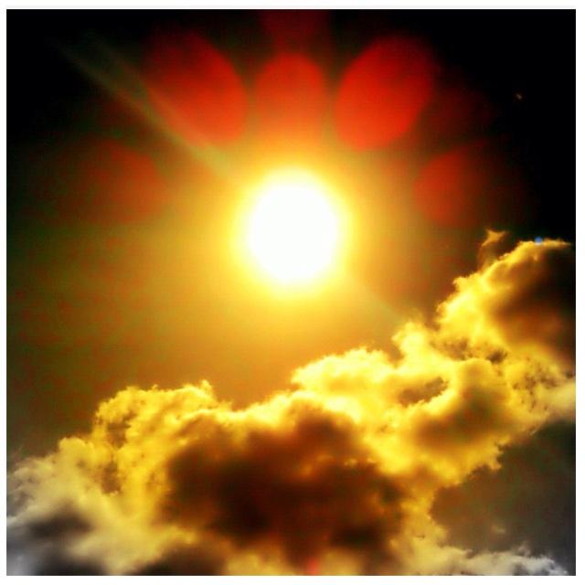 Sun & clouds. Peaceful