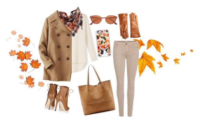 """""""the fall"""" by jenifferalves on Polyvore featuring BP., Uniqlo, Jimmy Choo, 7 For All Mankind, Saks Fifth Avenue Collection, RetroSuperFuture, Casetify and Sole Society"""