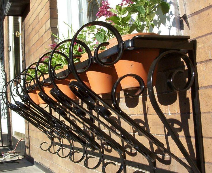 Wrought Iron Window Box & 82 best PLANTERS - Decorative and Garden images on Pinterest ... Aboutintivar.Com