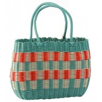 Nanna's Shopping Basket (red & aqua)