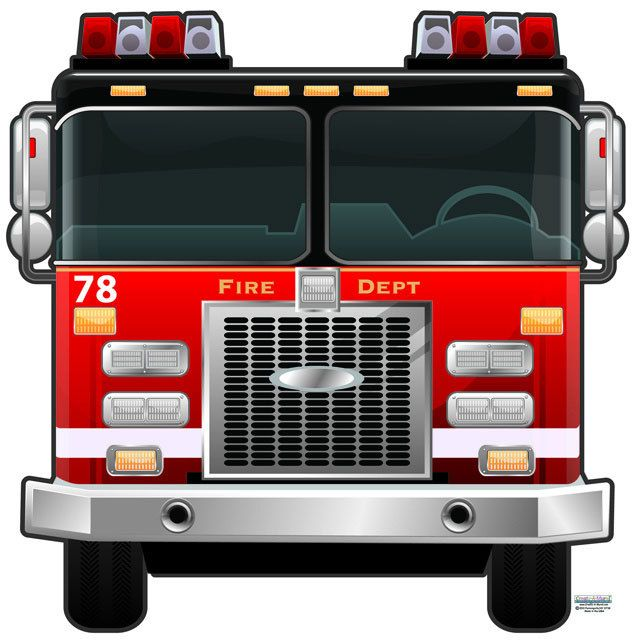 Fire Truck Mural~Fantastic Fire Engine Wall Mural To Design A Fire Engine  Themed Room. This Fire Truck Mural Is Designed To Be Able To Be Used As A  Peel And ...
