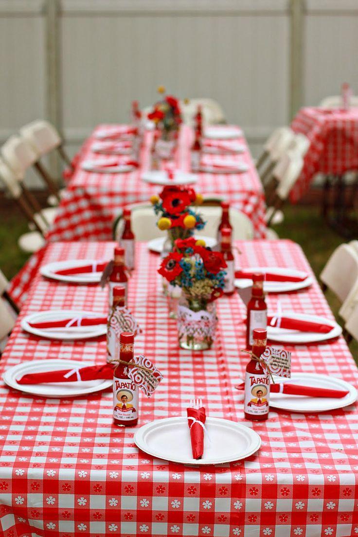 BBQ Wedding Ideas | Creative Ideas: Backyard BBQ Wedding Shower | wedding  ideas | Pinterest | Chic baby, Gingham and Picnics
