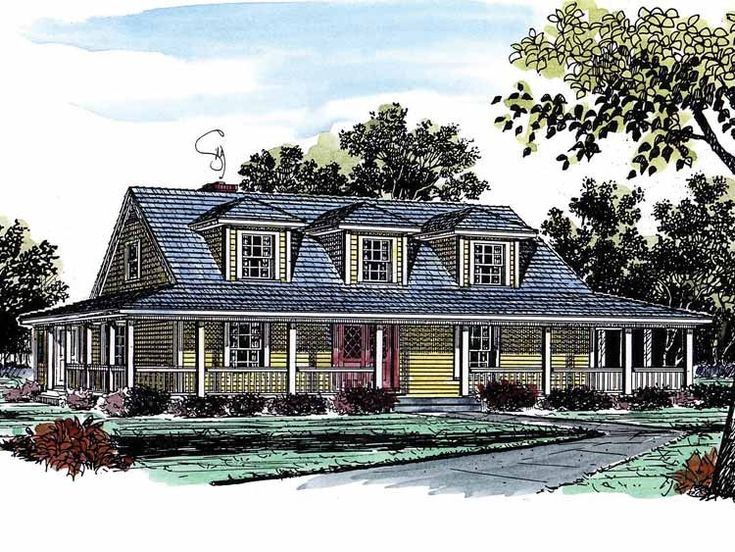 2 story country house plans - 2 Story Country House Plans