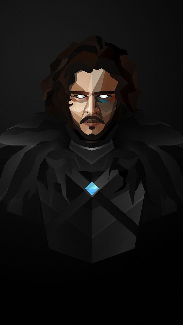 Jon Snow Game Of Thrones Minimal Art 720x1280 Wallpaper