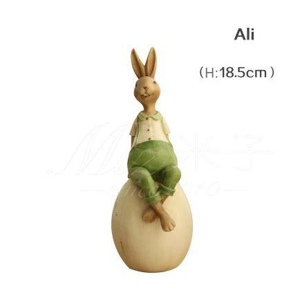 Простая жизнь минималистский гостиной спальня сад главная смола ремесла фигурки творческий кролик украшения дома аксессуары