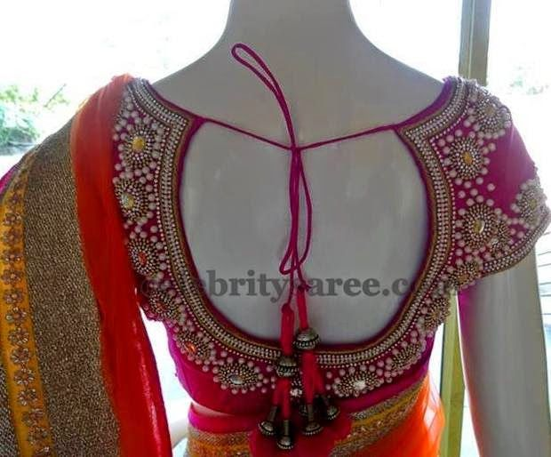 Antique and Pearls Pink Blouse | Saree Blouse Patterns