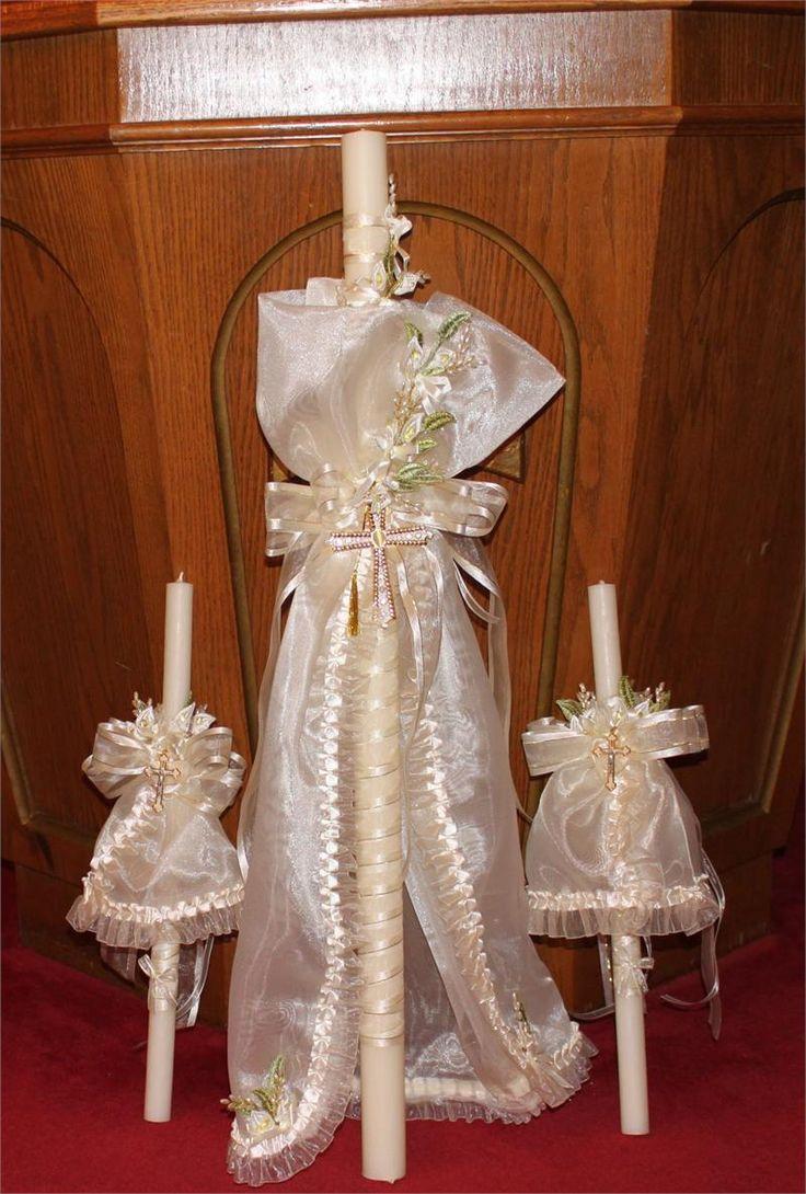 Greek christening candles