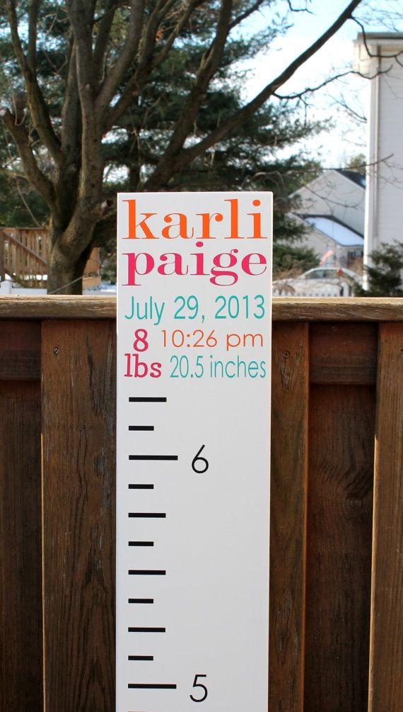 """Growth Chart Ruler - Wooden Custom 8"""" x 65"""" Unique Baby or Toddler Gift on Etsy, $54.95"""