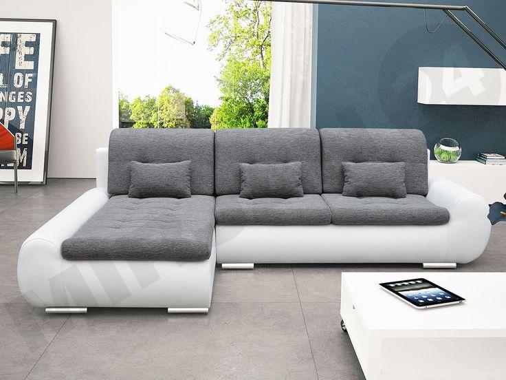 Real works of art! Do you like it?  Prawdziwe dzieło sztuki! Podoba Ci się? #cornersofa #mirjan24 #white #grey #narożnik #livingroom