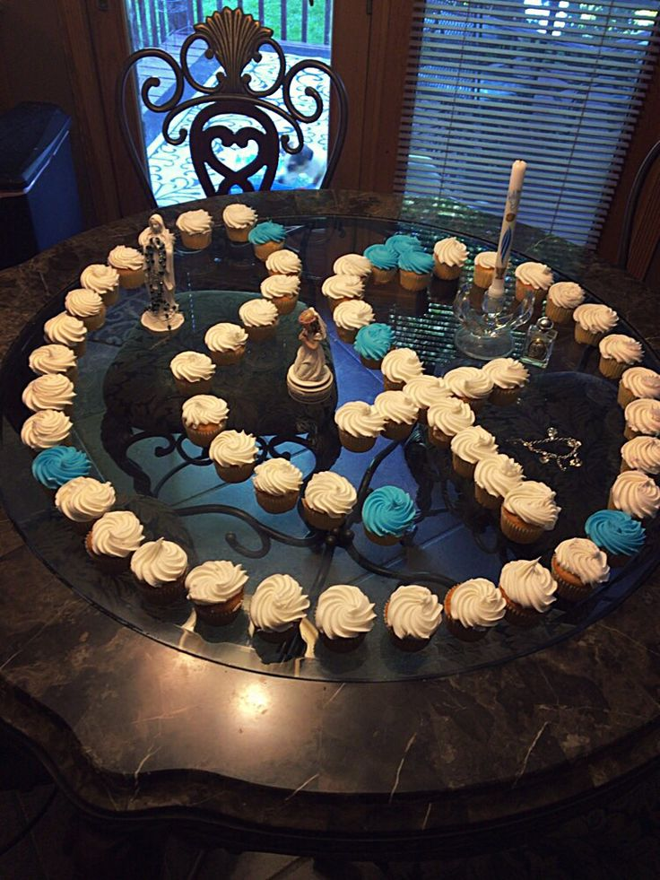 Cupcake Rosary first communion