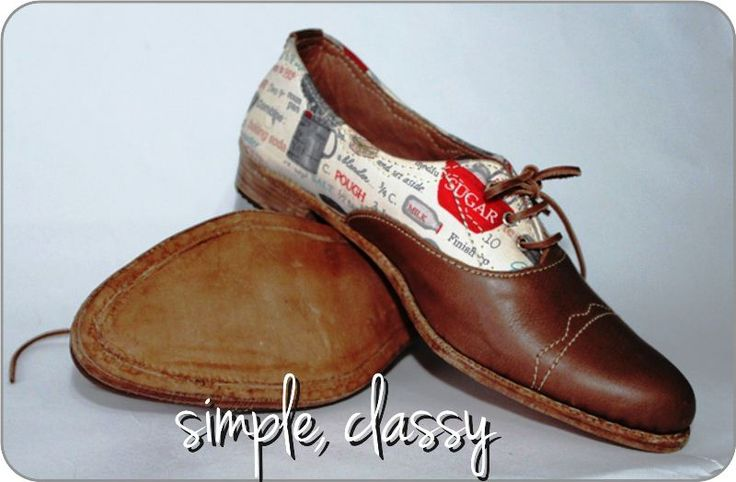 Full #leather (body, inner, sole), full #handmade combine with fashion #linen or canvas. Made to Order
