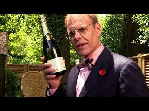▶ Champagne Saber Time - YouTube- Alton Brown teaches the epic way to open champagne with a saber.