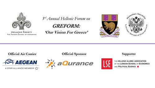 3rd Annual Hellenic Forum  Saturday March 14, 2015 | @  LSE