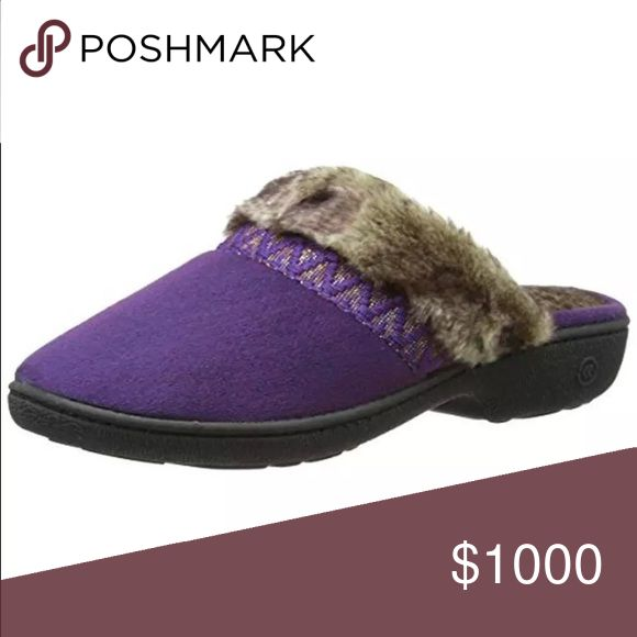 🆕List! 🎁GREAT 🎁 Isotoner Microsuede Clogs! NEW! Purple microsuede Hazel Clog slippers! NWT! Size small fits sizes 6.5 to 7. Isotoner Shoes Slippers