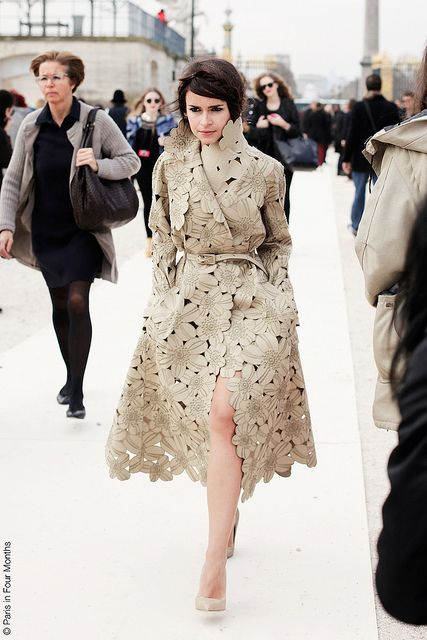 Miroslava Duma at Paris Fashion Week FW13 by Paris in Four Months, via Flickr