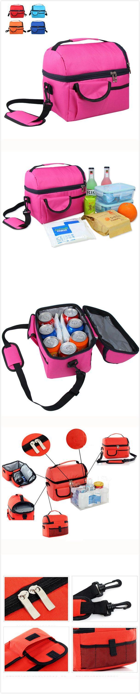 【$ 10.87】 Handheld Lunch Bag Aluminum Foil Insulated Picnic Bag Food Storage Bag Nylon Mesh Beach Bag