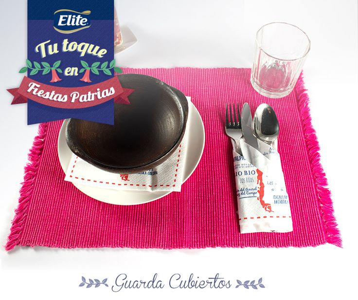 Tu toque en Fiestas Patrias con ELITE - Haz un Cubre Cubiertos y descubre cómo decorar tu mesa este 18 de septiembre.
