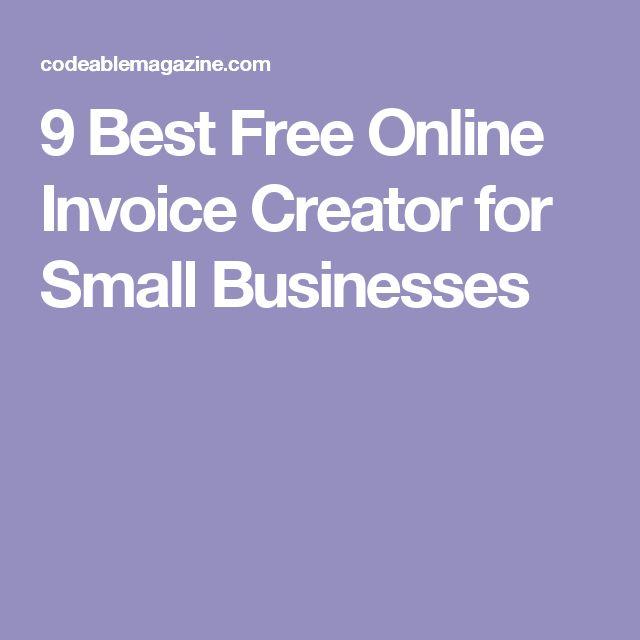 Las 25 mejores ideas sobre Free Invoice Creator en Pinterest - invoices free online