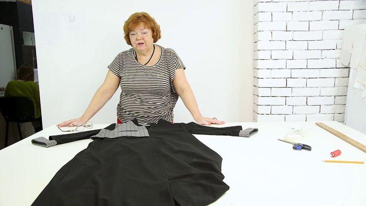 Обзор итальянского платья из двух видов ткани с карманами и стойкой Плат...