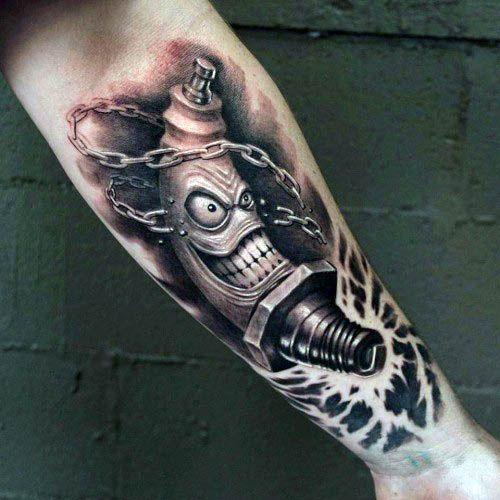70 Spark Plug Tattoo Designs für Männer – Cool Combustion Ink
