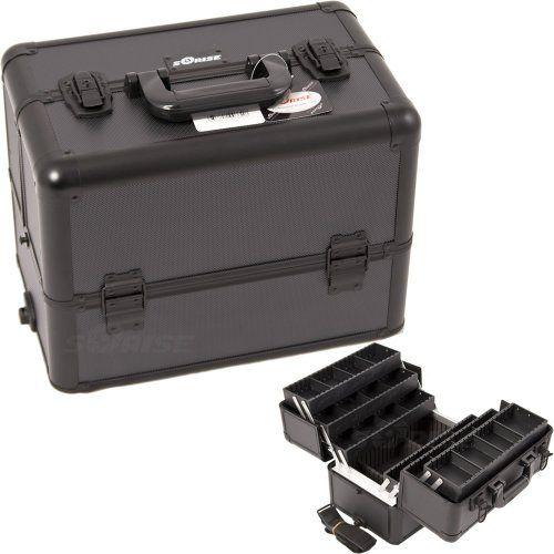 10.5 inch Black Dottie Texture Interchangeable E Series 6 Extendable Customize Trays Aluminum Professional Makeup Artist Travel Train Case Cosmetics Holder Storage Tote Organizer w/Shoulder Strap SunRise,http://www.amazon.com/dp/B008W09WVI/ref=cm_sw_r_pi_dp_J5bktb11DK19N43C