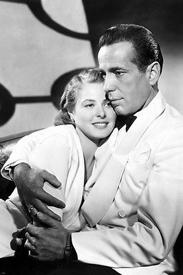 BERGMAN & BOGART CASABLANCA movie still poster COLLECTIBLE TOP QUALITY 24X36 Brand New. 24x36 inches. Will ship in a tube. Reproduction of aged original vintage art print. Great wall decor art print a